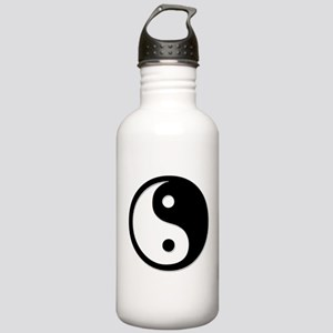 Black Yin Yang Stainless Water Bottle 1.0L